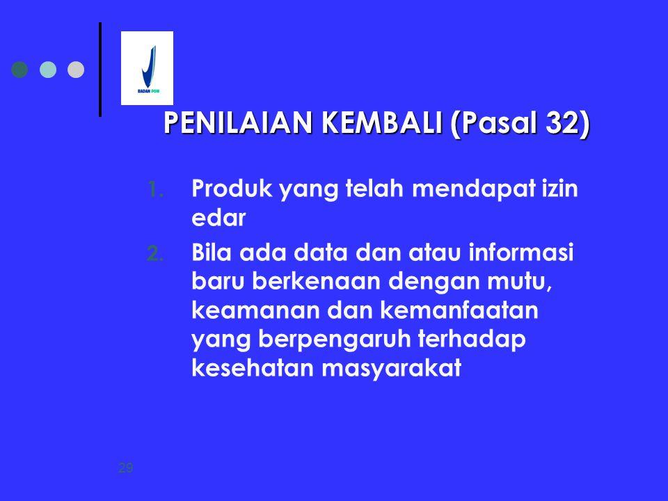 PENILAIAN KEMBALI (Pasal 32)