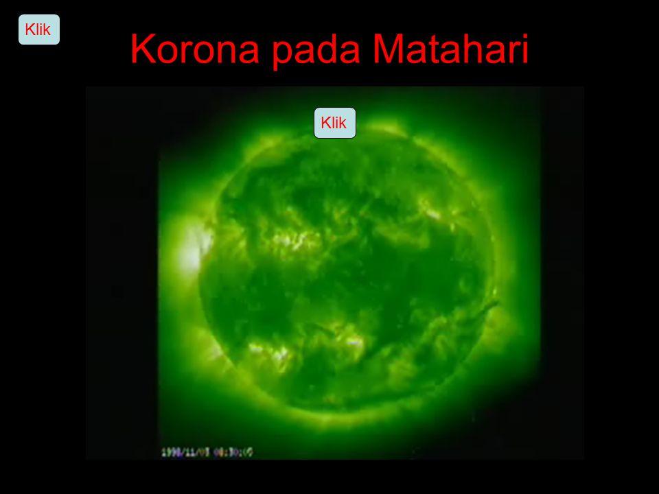 Klik Korona pada Matahari Klik