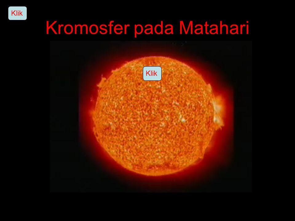 Kromosfer pada Matahari