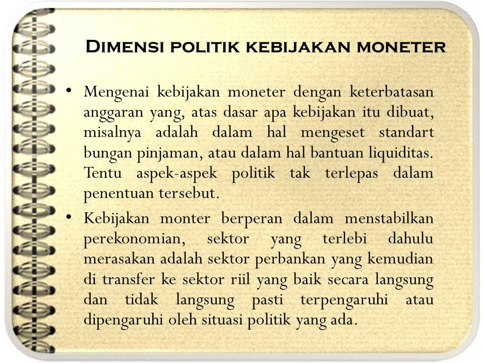 Dimensi politik kebijakan moneter