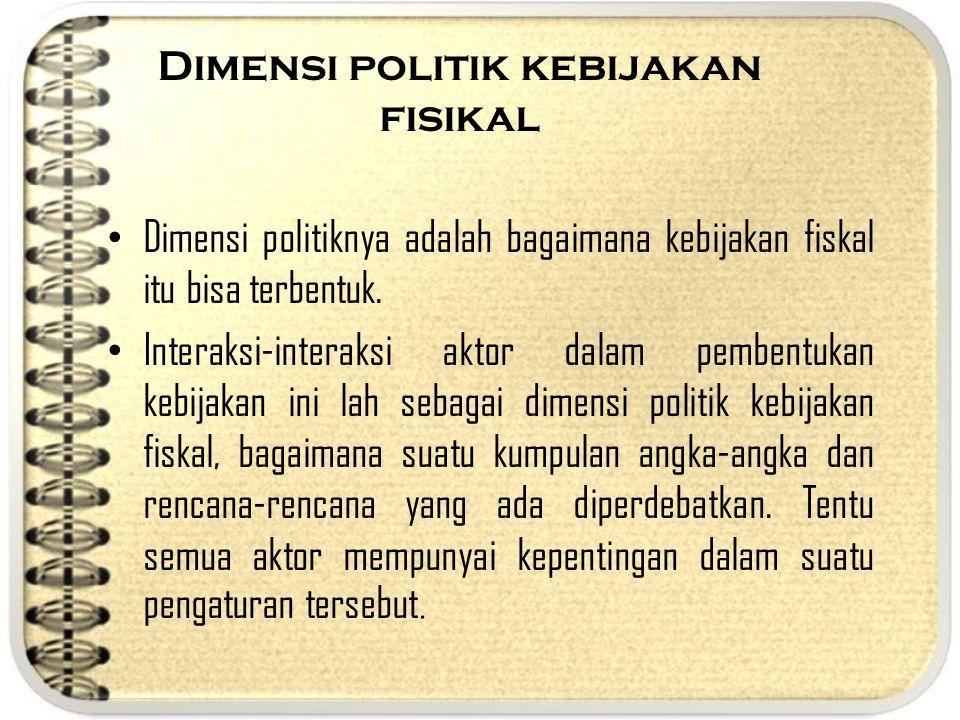 Dimensi politik kebijakan fisikal