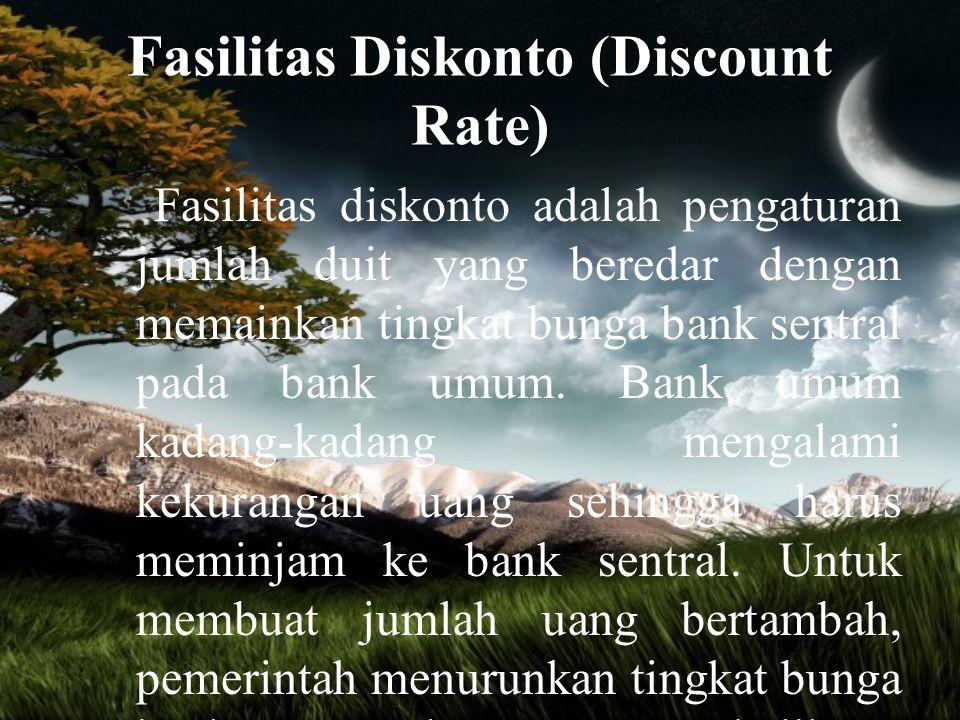 Fasilitas Diskonto (Discount Rate)