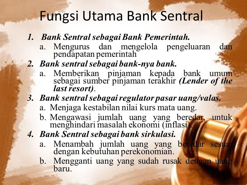 Fungsi Utama Bank Sentral