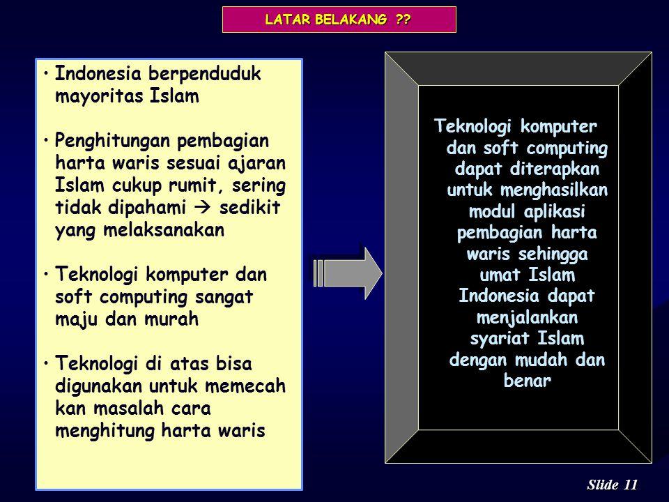 Indonesia berpenduduk mayoritas Islam