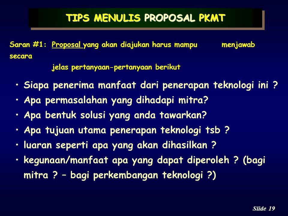 TIPS MENULIS PROPOSAL PKMT