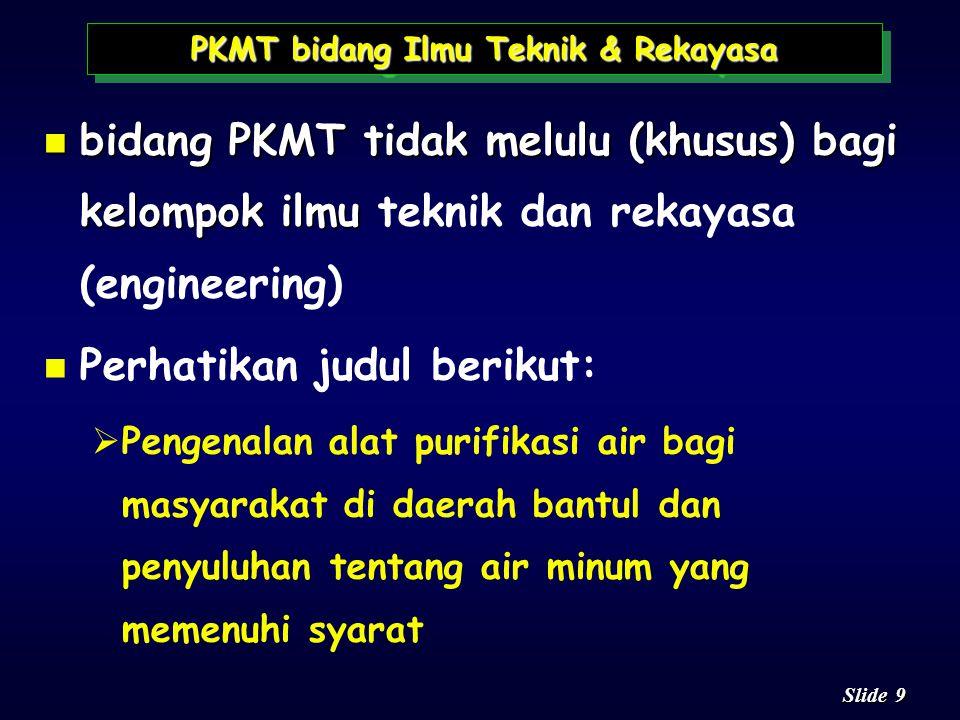 PKMT bidang Ilmu Teknik & Rekayasa
