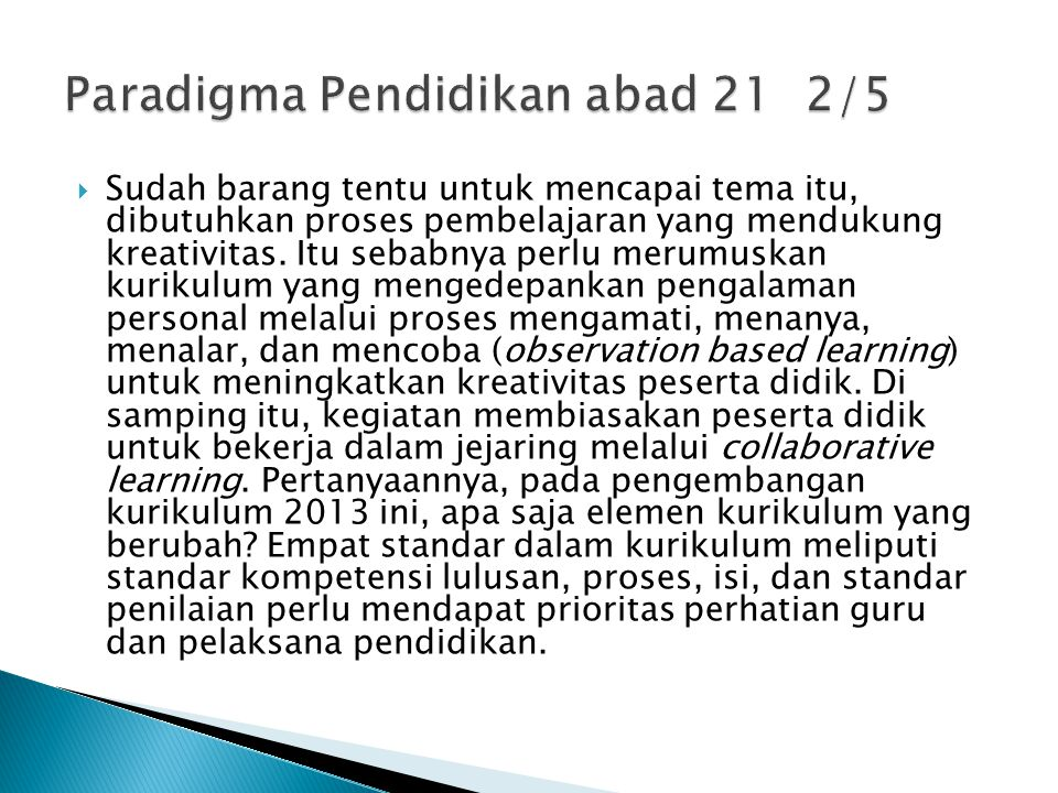 Paradigma Pendidikan abad 21 2/5