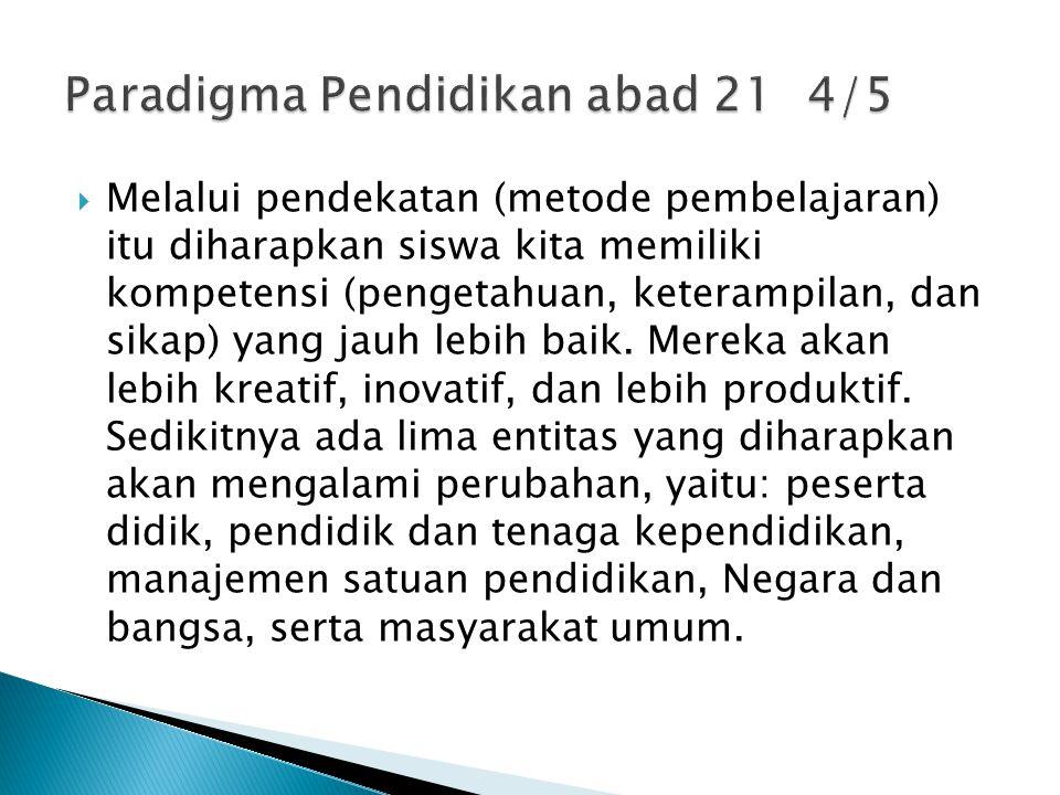 Paradigma Pendidikan abad 21 4/5