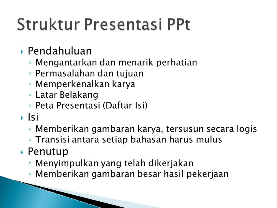 Struktur Presentasi PPt