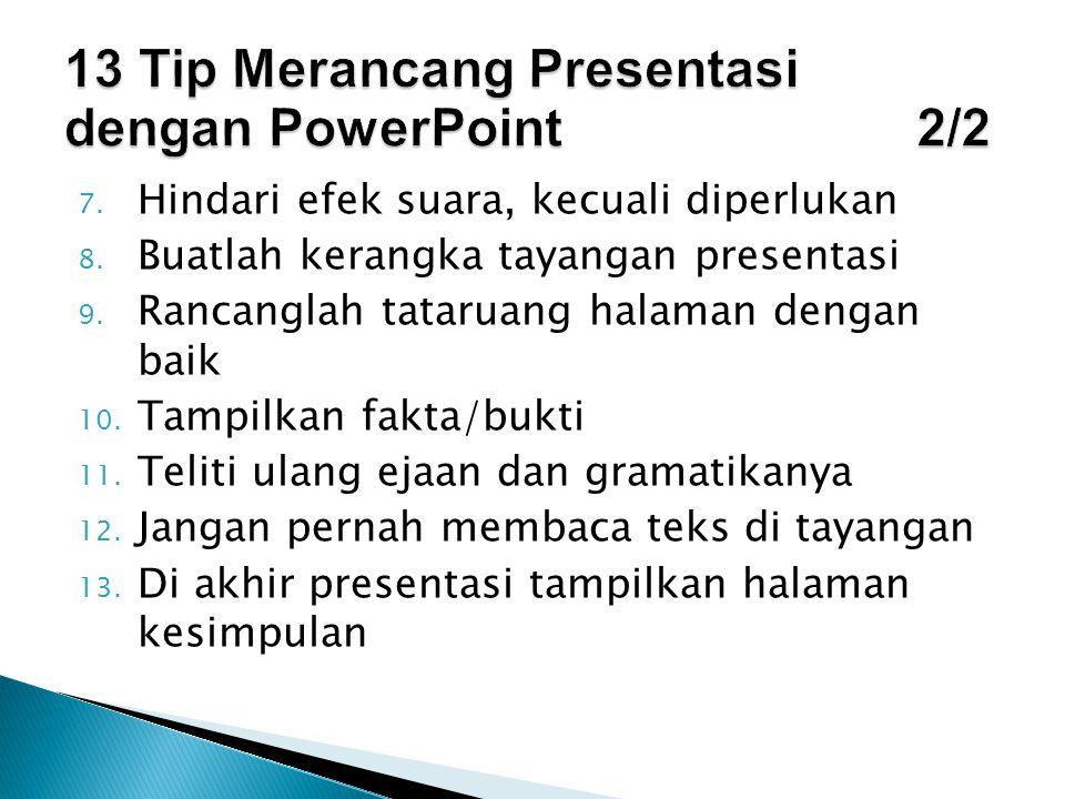 13 Tip Merancang Presentasi dengan PowerPoint 2/2