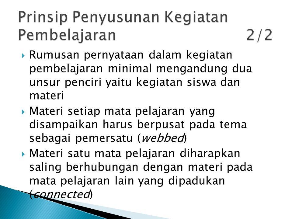 Prinsip Penyusunan Kegiatan Pembelajaran 2/2