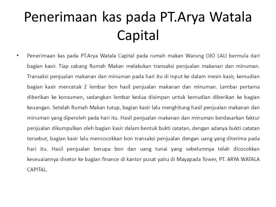 Penerimaan kas pada PT.Arya Watala Capital