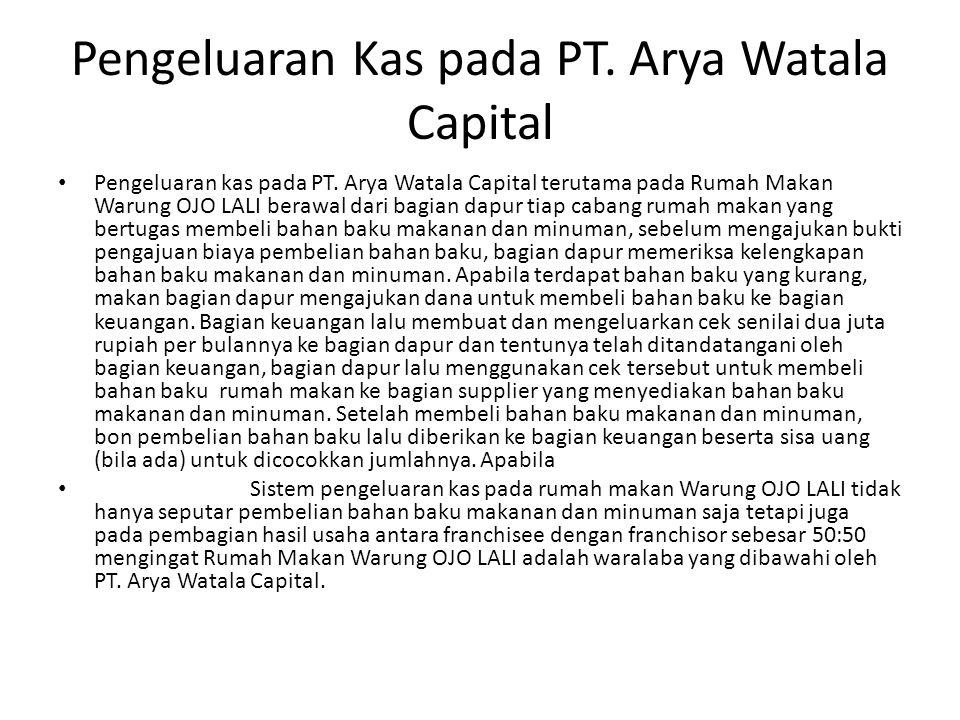 Pengeluaran Kas pada PT. Arya Watala Capital