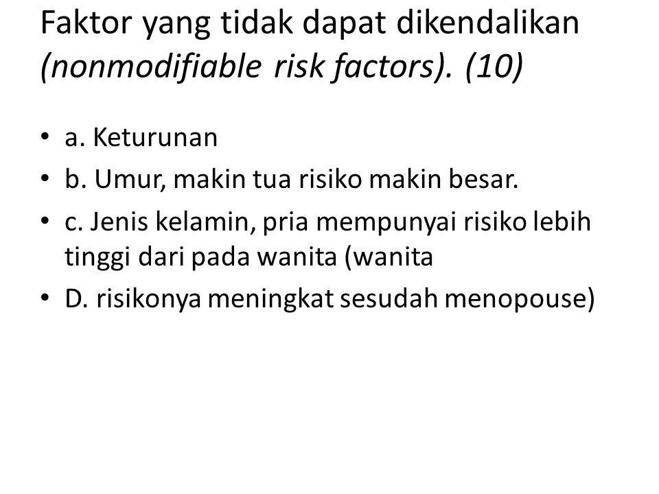 Faktor yang tidak dapat dikendalikan (nonmodifiable risk factors). (10)