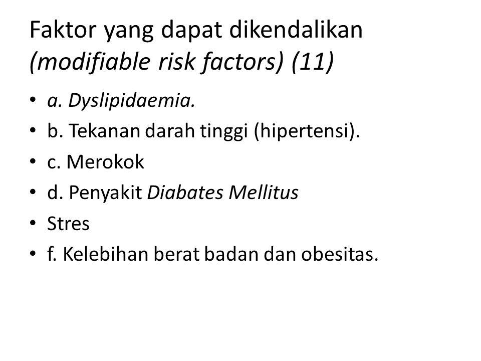 Faktor yang dapat dikendalikan (modifiable risk factors) (11)