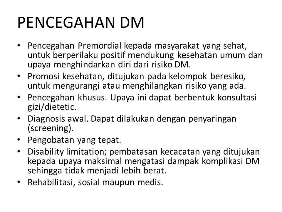 PENCEGAHAN DM