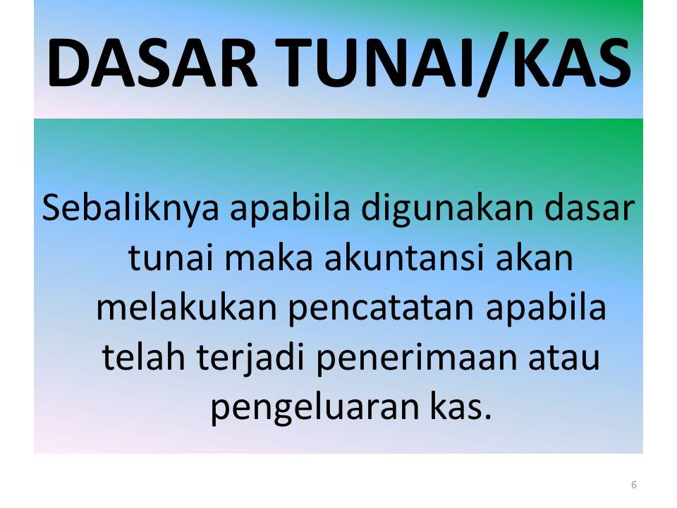 DASAR TUNAI/KAS