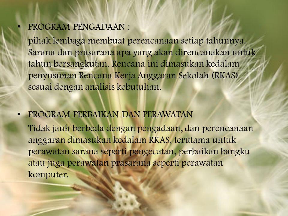 PROGRAM PENGADAAN :