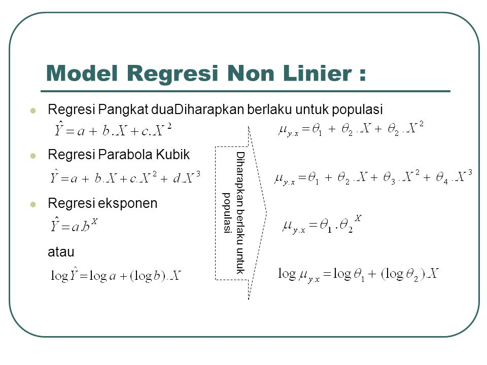 Model Regresi Non Linier :