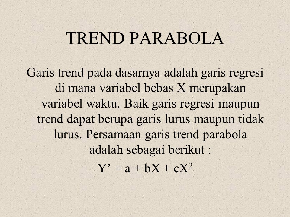 TREND PARABOLA