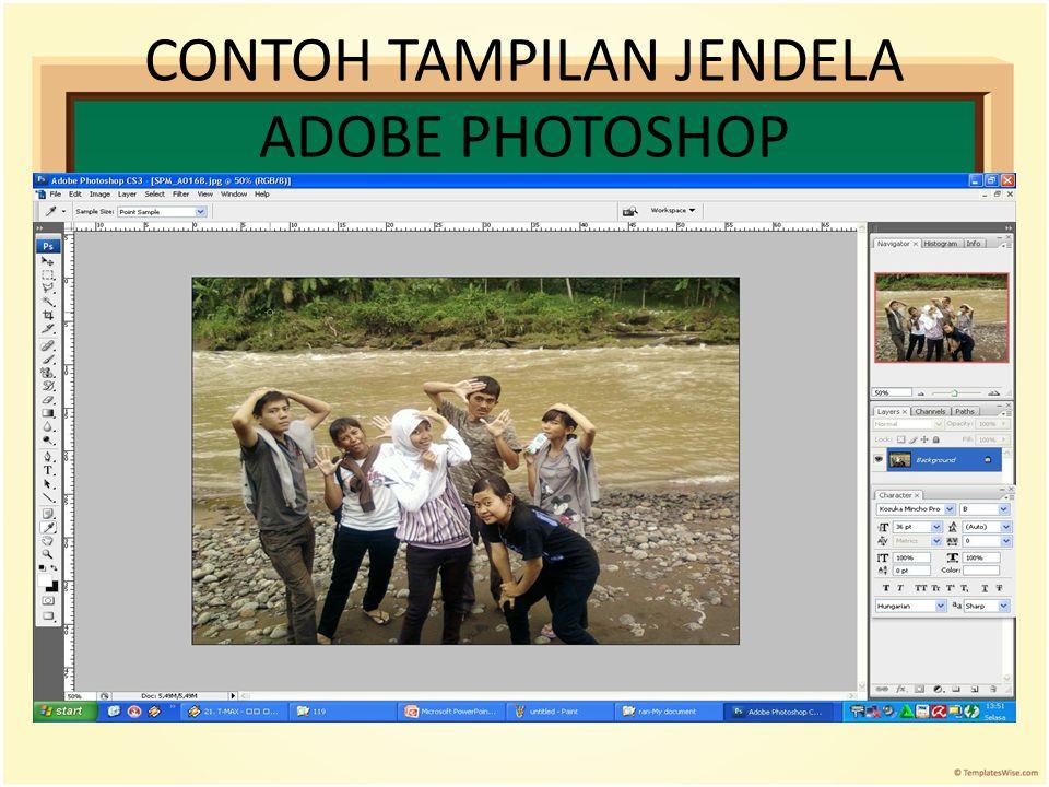 CONTOH TAMPILAN JENDELA ADOBE PHOTOSHOP