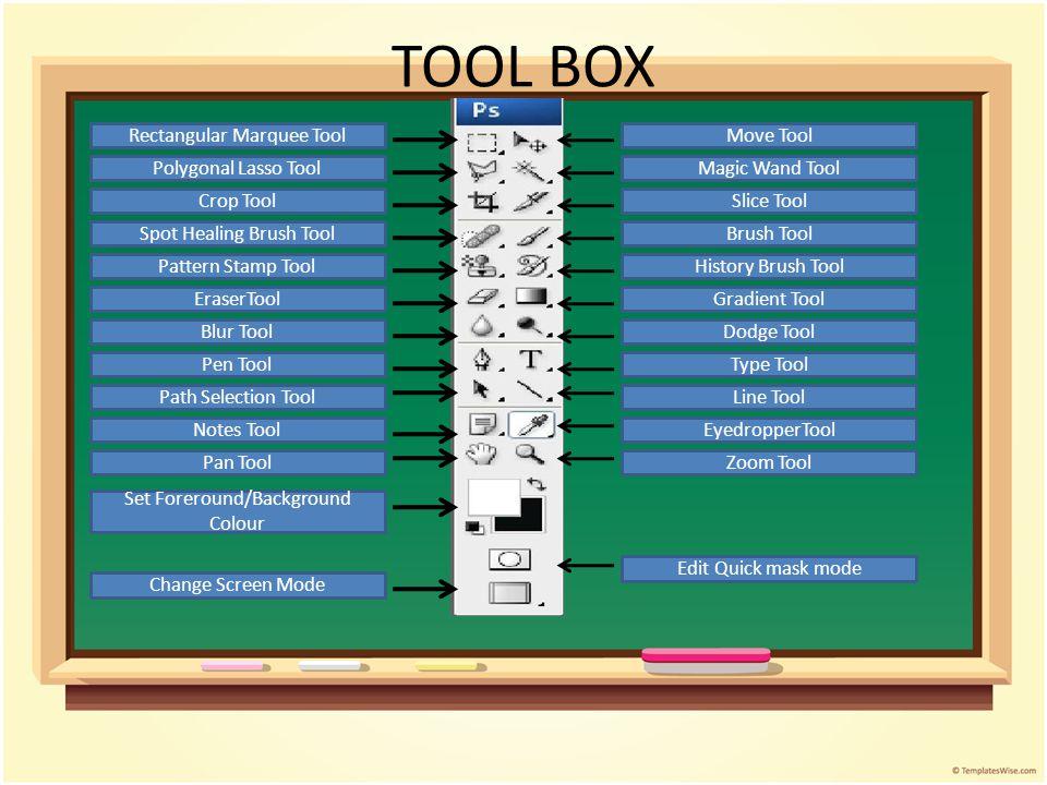TOOL BOX Rectangular Marquee Tool Move Tool Polygonal Lasso Tool