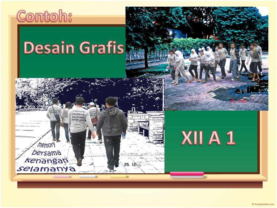 Contoh: Desain Grafis XII A 1