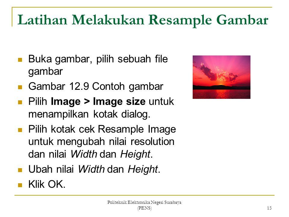 Latihan Melakukan Resample Gambar