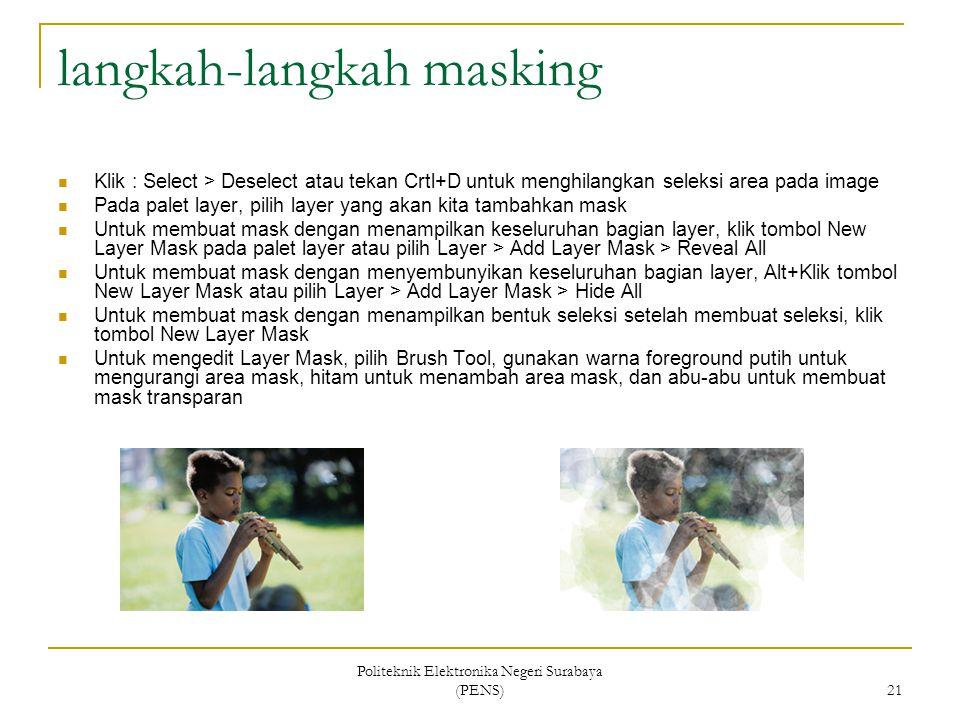 langkah-langkah masking