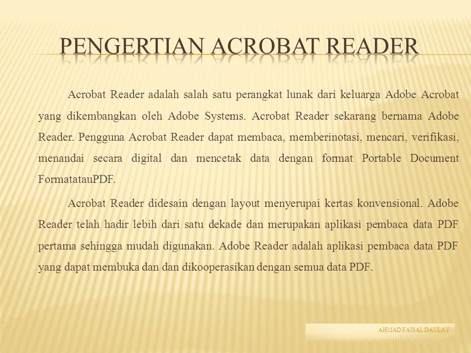 Pengertian Acrobat Reader