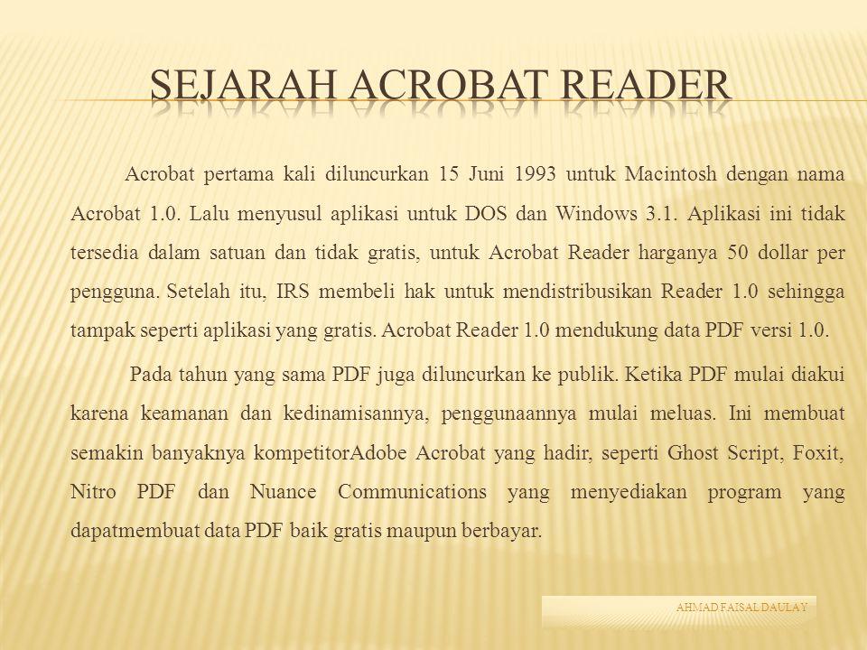 Sejarah Acrobat Reader
