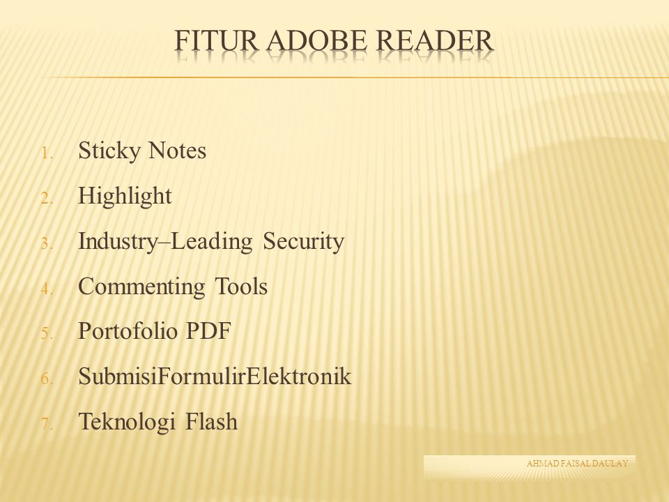 Fitur Adobe Reader Sticky Notes Highlight Industry–Leading Security