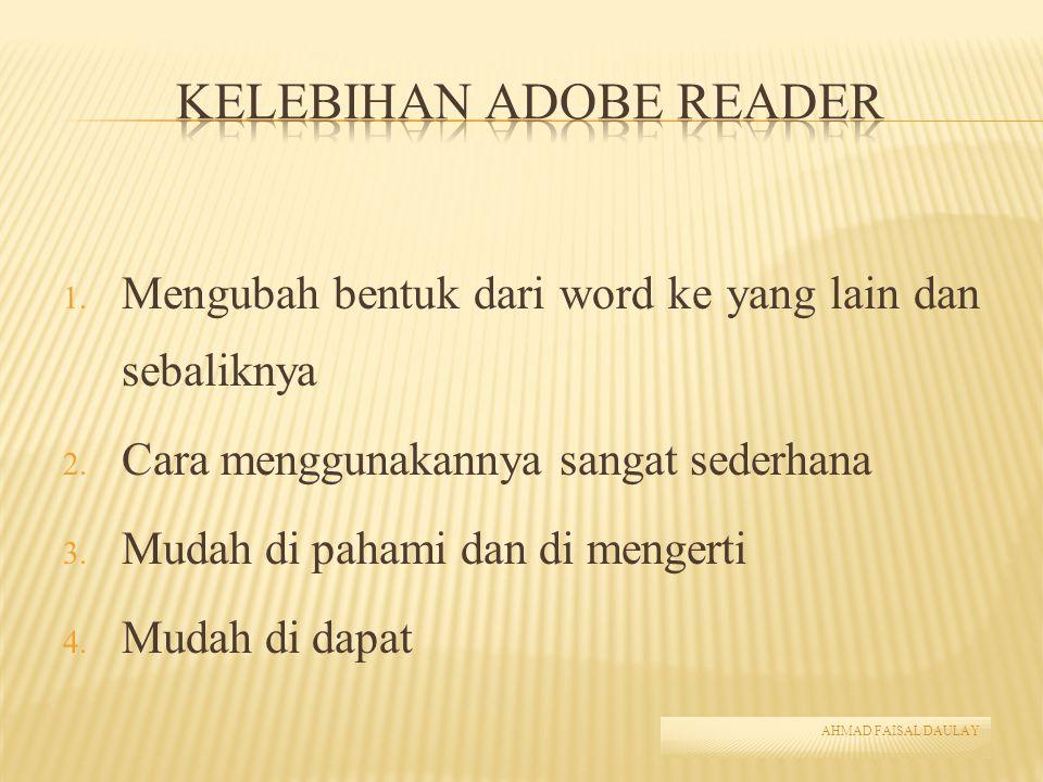 Kelebihan Adobe Reader