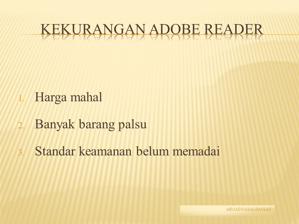 Kekurangan Adobe Reader