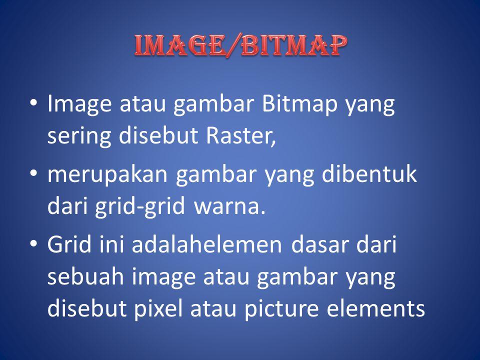 IMAGE/BITMAP Image atau gambar Bitmap yang sering disebut Raster,