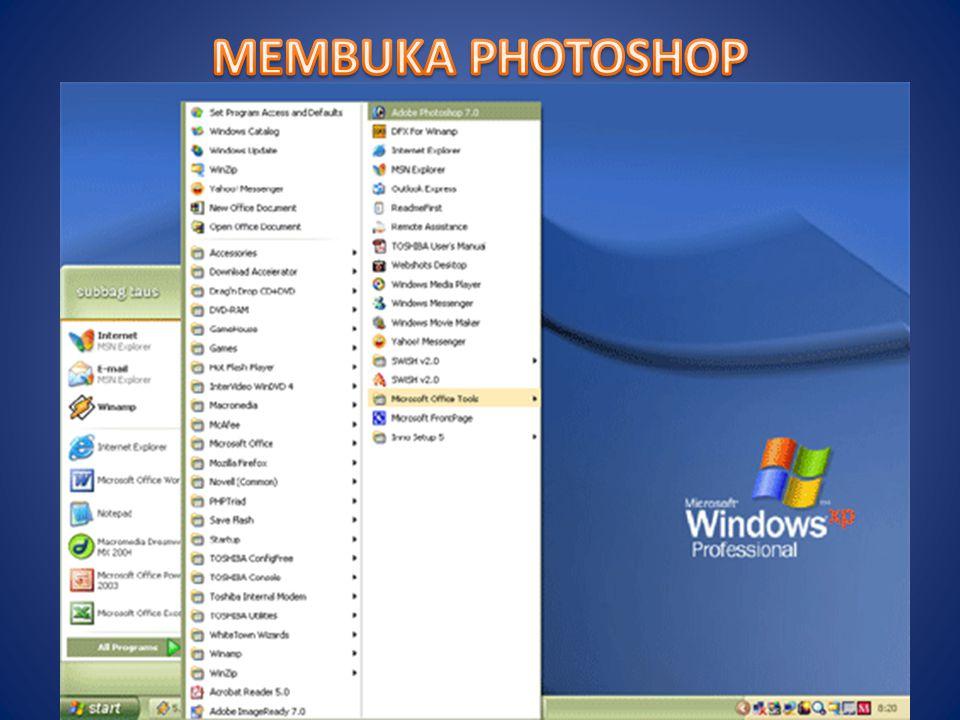 MEMBUKA PHOTOSHOP