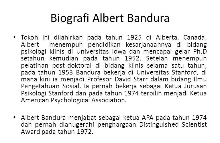 Biografi Albert Bandura