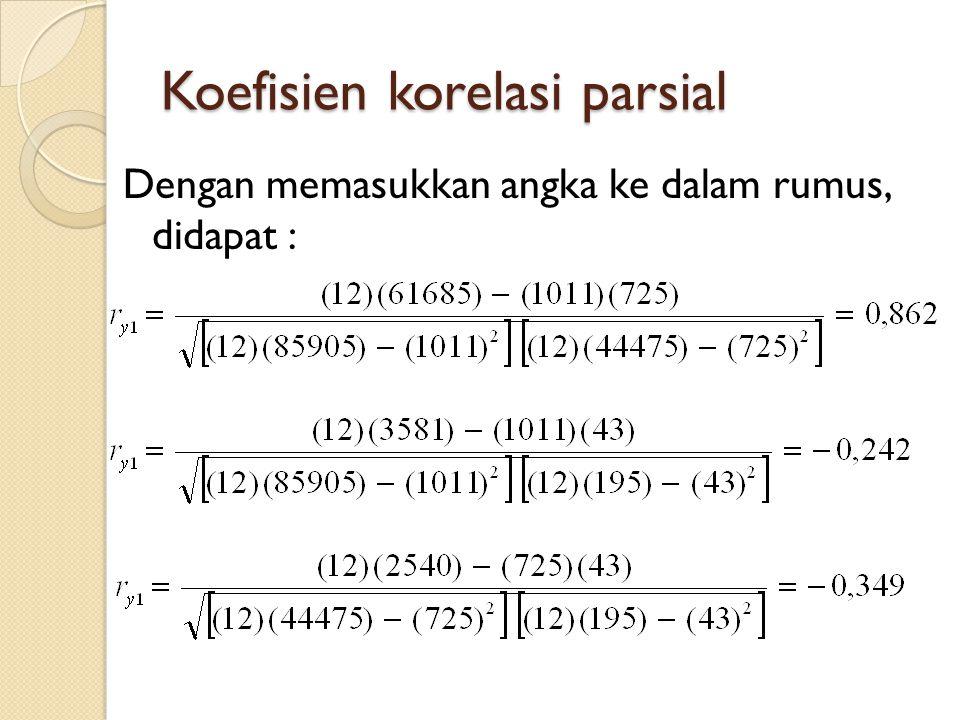 Koefisien korelasi parsial