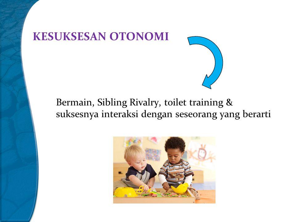 KESUKSESAN OTONOMI Bermain, Sibling Rivalry, toilet training & suksesnya interaksi dengan seseorang yang berarti.