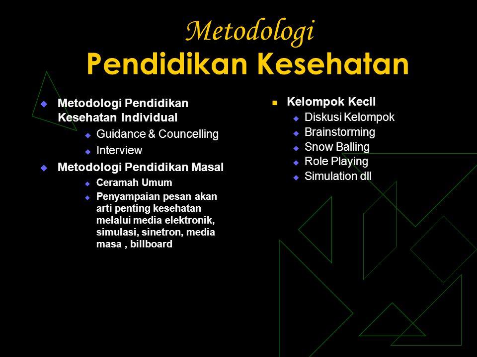 Metodologi Pendidikan Kesehatan