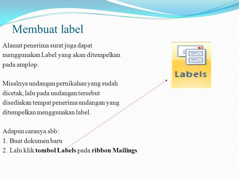 Membuat label