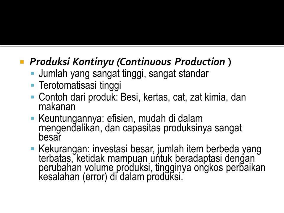 Produksi Kontinyu (Continuous Production )