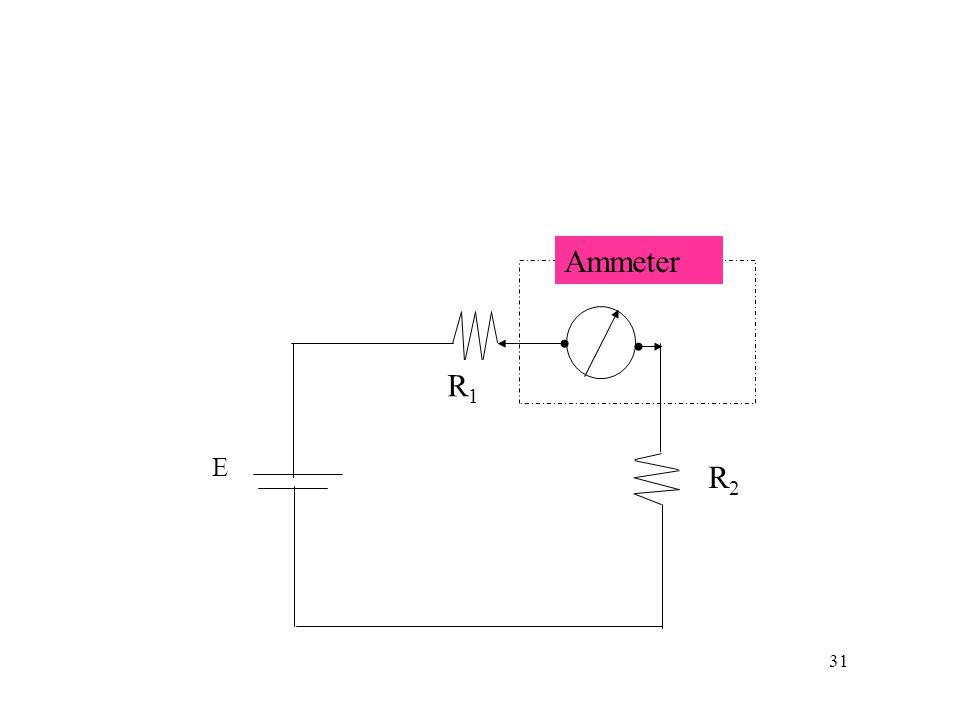 Ammeter R1 E R2 31