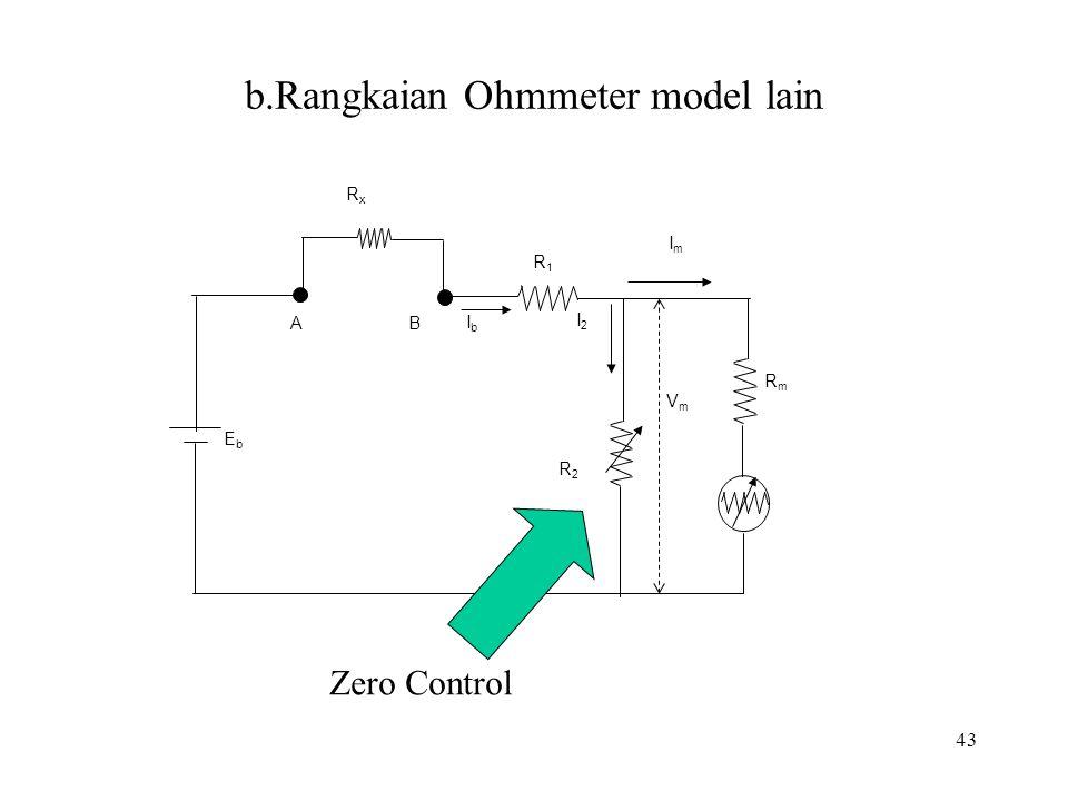 b.Rangkaian Ohmmeter model lain