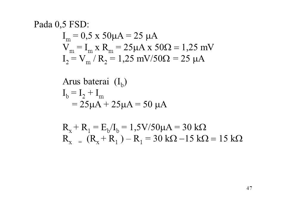 Rx = (Rx + R1 ) – R1 = 30 kW -15 kW = 15 kW
