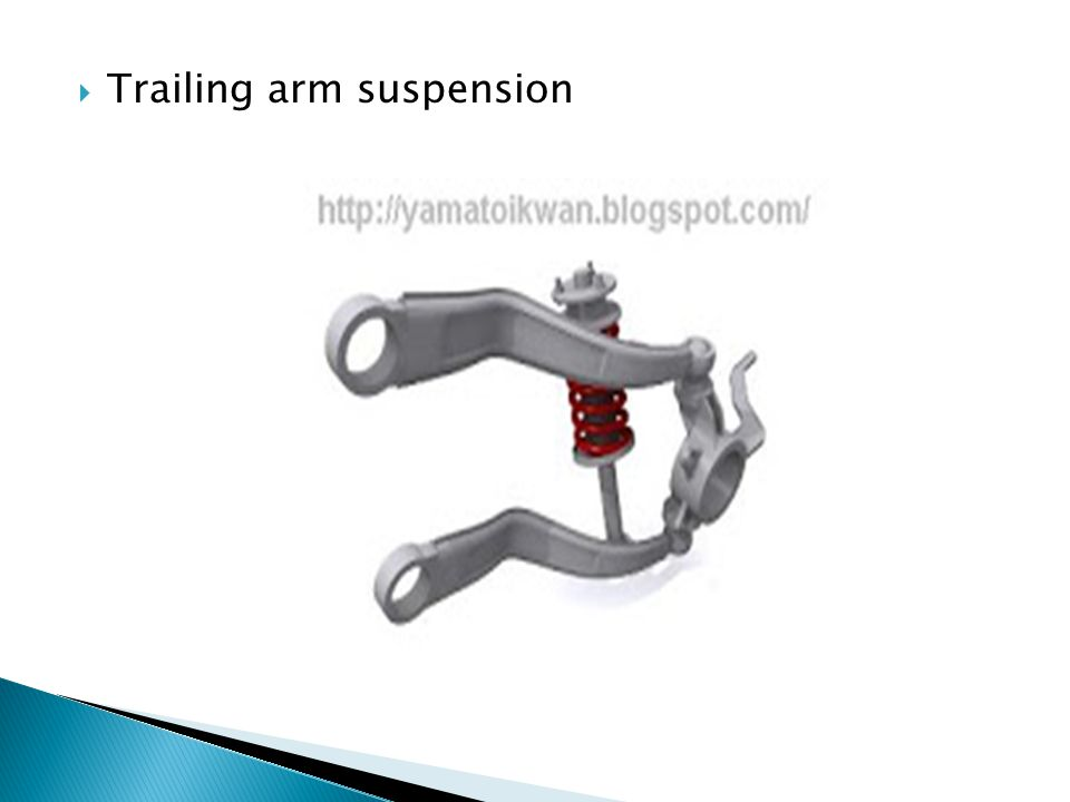 Trailing arm suspension