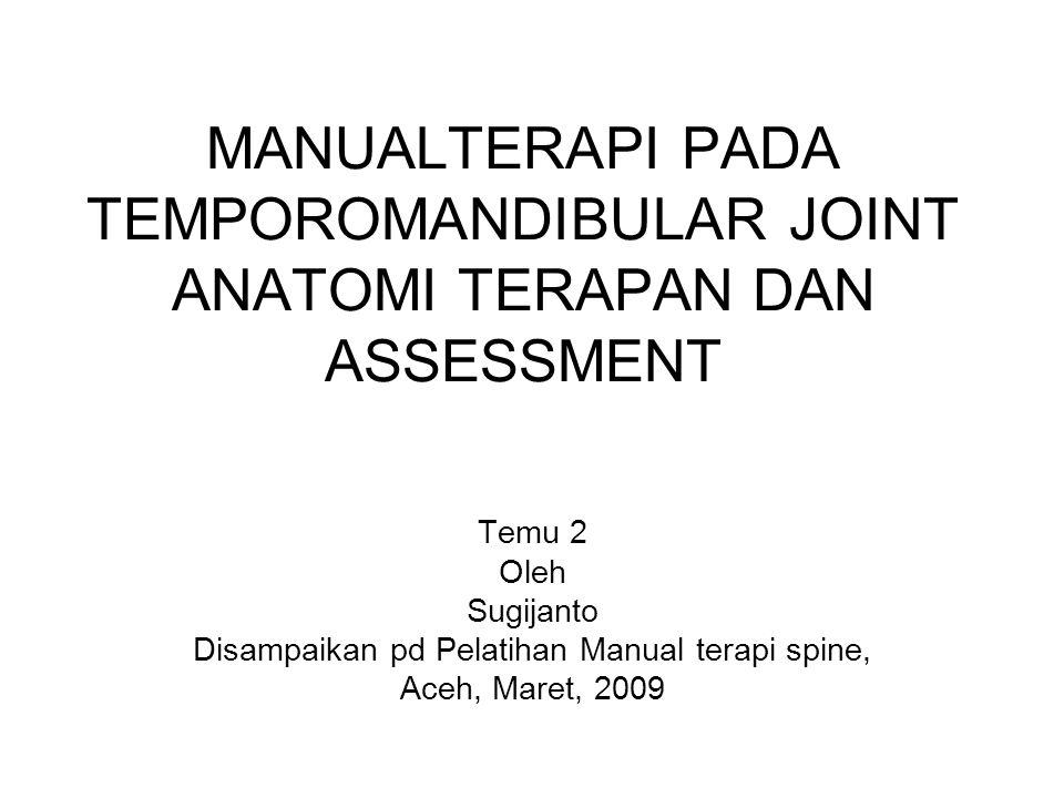 Disampaikan pd Pelatihan Manual terapi spine,