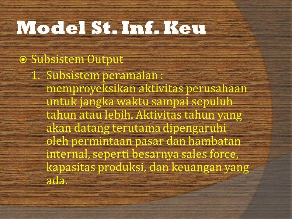 Model St. Inf. Keu Subsistem Output