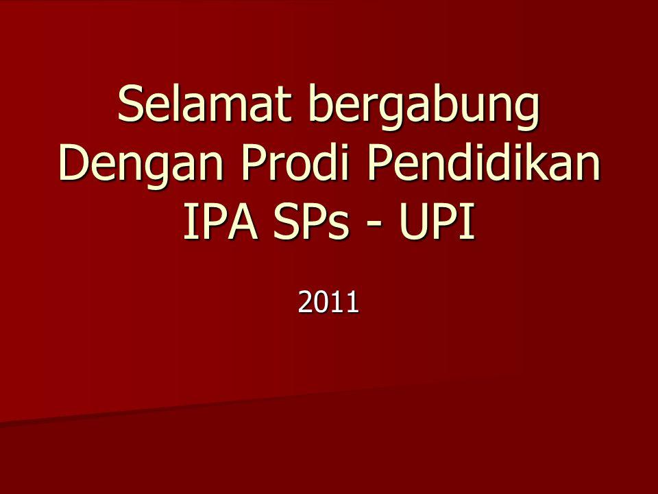Selamat bergabung Dengan Prodi Pendidikan IPA SPs - UPI