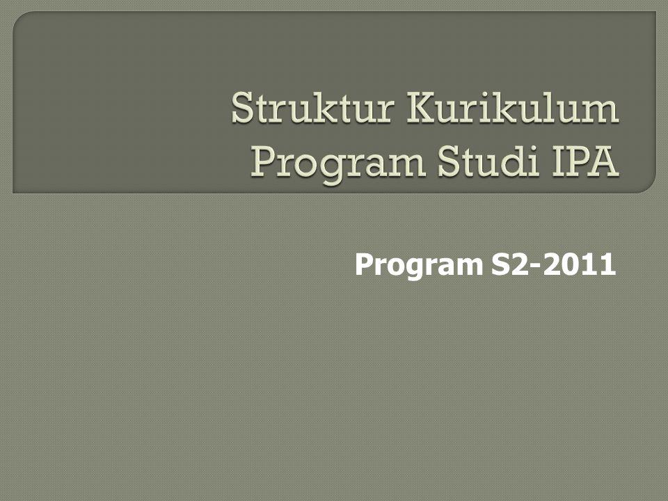 Struktur Kurikulum Program Studi IPA